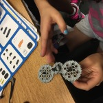 Students are learning how gears work together.